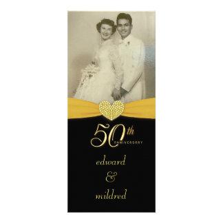 50.o aniversario - invitaciones elegantes de la fo comunicados personales