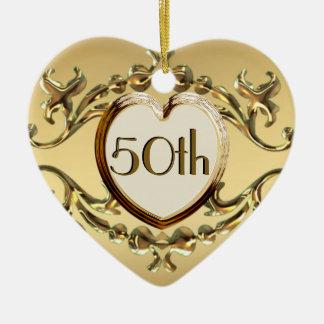 50 o Aniversario o 50 o ornamento del corazón del Adorno Para Reyes