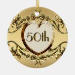 50.o Aniversario o 50.o ornamento del cumpleaños Adorno Para Reyes