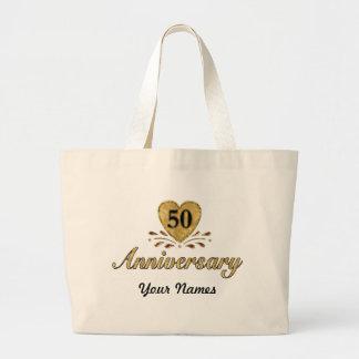 50.o aniversario - oro bolsa de tela grande