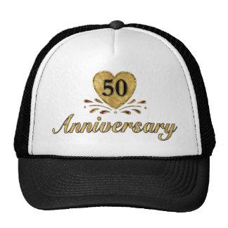 50.o aniversario - oro gorros bordados
