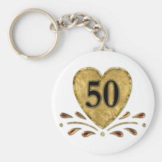 50.o aniversario - oro llavero redondo tipo pin