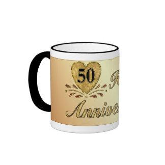 50.o aniversario - oro taza de dos colores