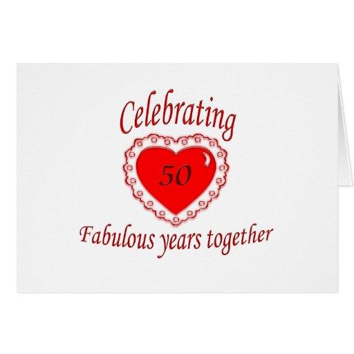 50.o. Aniversario Tarjeta De Felicitación