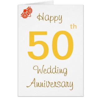 50.o Aniversario Tarjeta De Felicitación