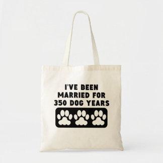50.o Años del perro del aniversario Bolsa Tela Barata
