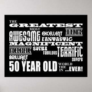 50.o Años más grandes de la fiesta de cumpleaños l Póster