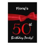 50.o Arco impreso negro y colorido de la fiesta de Invitaciones Personales