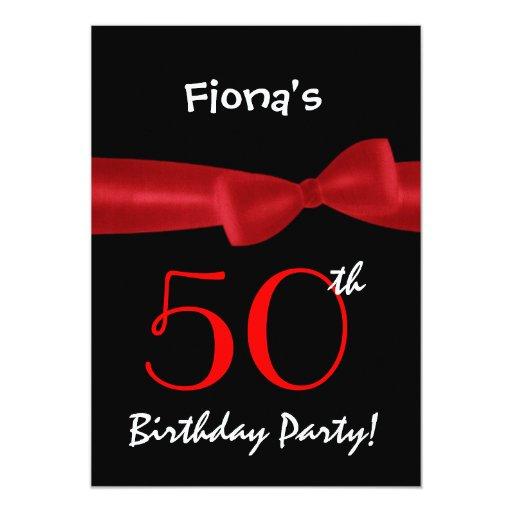 """50.o Arco impreso negro y colorido de la fiesta de Invitación 5"""" X 7"""""""