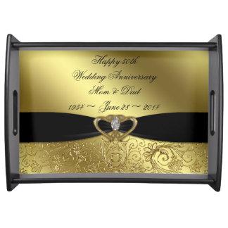 50.o Bandeja de la porción del aniversario de boda