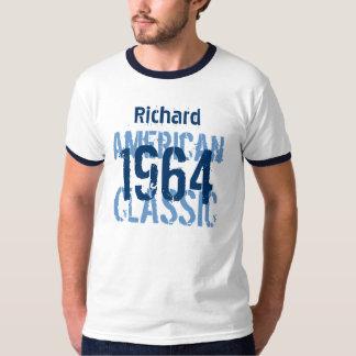 50.o Blanco azul clásico americano v2 del Playera