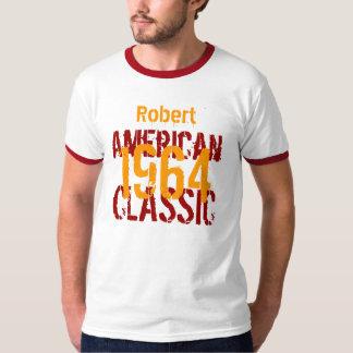 50.o Blanco clásico del cumpleaños 1964 y rojo Polera