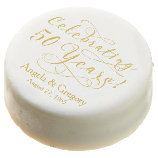50.o blanco personalizado del oro del aniversario