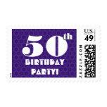 50.o Blanco púrpura intrépido grande W1224 de la Franqueo