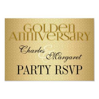 """50.o Boda de oro Annivsersary RSVP Invitación 3.5"""" X 5"""""""