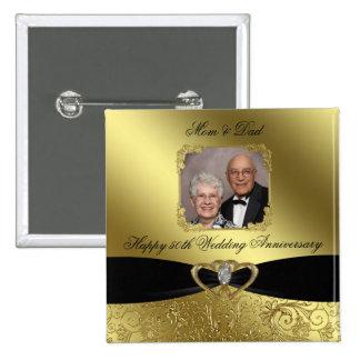 50.o Botón de la foto del aniversario de boda