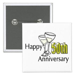 50.o Botón del aniversario de boda Pin