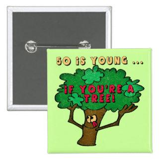 50 o Botón del árbol del cumpleaños Pins