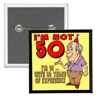 50 o Botón del cumpleaños Pin