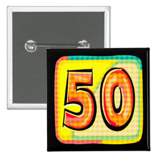 50.o Botón del cumpleaños Pin
