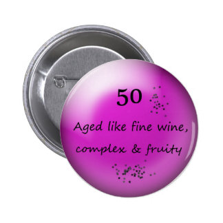 50.o Botón del cumpleaños Pin Redondo De 2 Pulgadas
