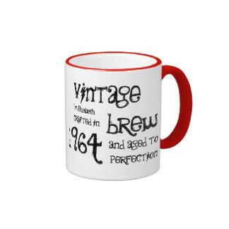 50.o Brew o cualquier año V01 del vintage del Taza A Dos Colores