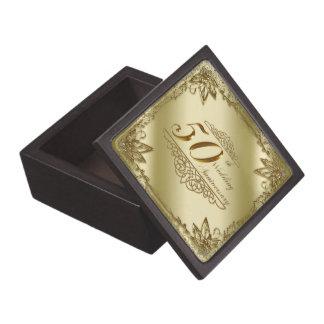 50.o Caja de regalo del aniversario de boda Cajas De Joyas De Calidad
