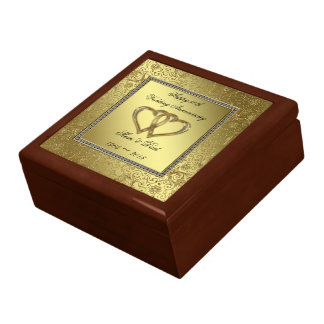 50.o Caja de regalo del aniversario de boda Joyero Cuadrado Grande