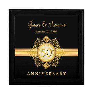 50.o Caja de regalo del recuerdo del negro del oro