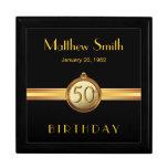 50.o Caja de regalo elegante para hombre del negro