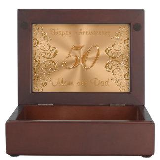 50.o Caja del recuerdo del aniversario para la Cajas De Recuerdos