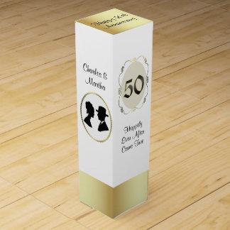50 o Caja del vino del regalo del aniversario