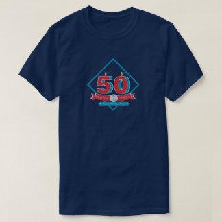 50.o Camiseta del cumpleaños de los hombres del Playera