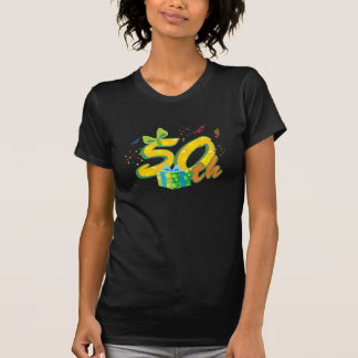 50.o Camiseta para mujer del cumpleaños