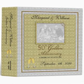 50.o Carpeta de oro del libro de recuerdos del