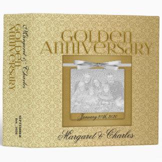 50.o Carpeta de oro del libro de recuerdos del ani