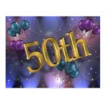 50.o Celebración de la invitación de la fiesta de  Tarjeta Postal