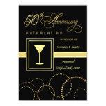 """50.o Celebración del aniversario de boda - moderna Invitación 5"""" X 7"""""""
