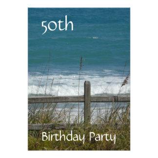 50 o Celebración-Océano varón del cumpleaños