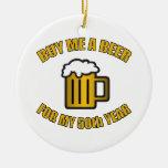 50.o Cerveza divertida del cumpleaños Ornato