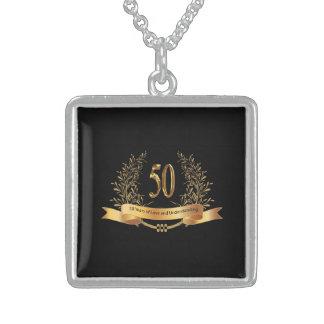 50.o Collar de la plata esterlina del aniversario