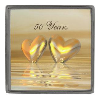 50.o Corazones de oro del aniversario Insignia Metalizada