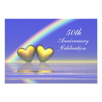 50 o Corazones de oro del aniversario Anuncios Personalizados