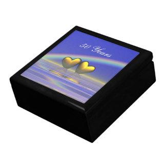 50.o Corazones de oro del aniversario Caja De Regalo