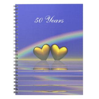 50.o Corazones de oro del aniversario Libros De Apuntes