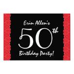 50.o Cordón rojo V500M del cumpleaños Anuncios Personalizados
