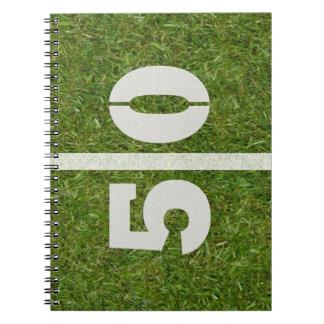 50.o Cuaderno del campo de fútbol del cumpleaños