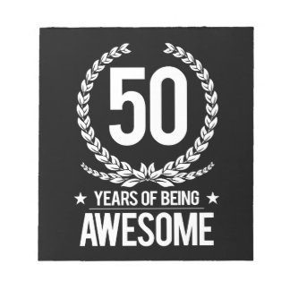 50.o Cumpleaños (50 años de ser impresionantes) Blocs De Notas