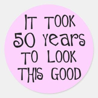 ¡50 o cumpleaños 50 años para mirar esto bueno etiquetas