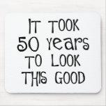 ¡50.o cumpleaños, 50 años para mirar esto bueno! tapetes de raton
